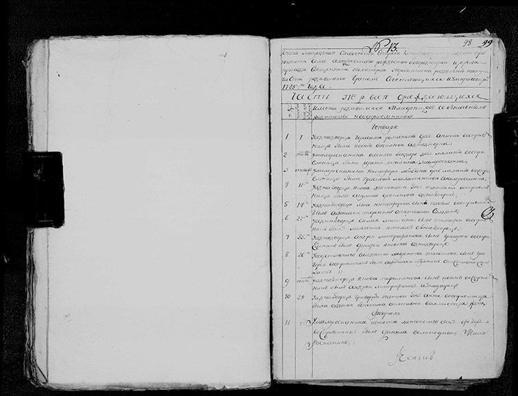 Метрическая книга Рождество-Богородицкой церкви села Алексеевка за 1785 год