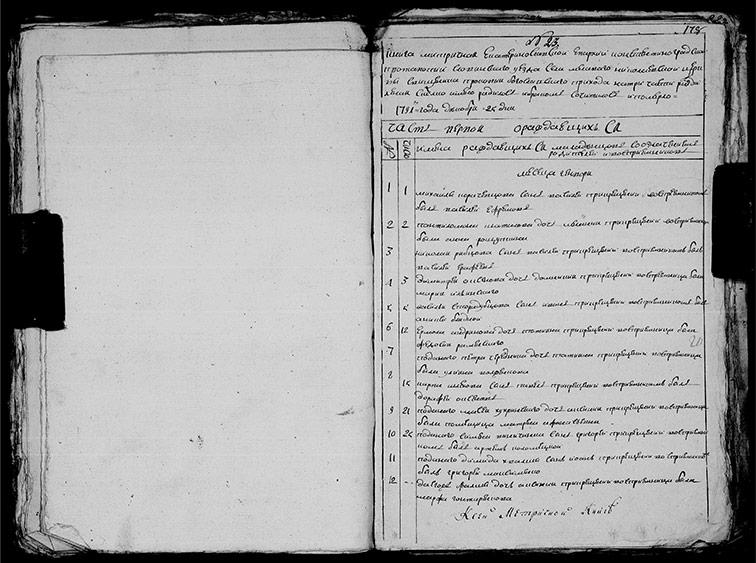 Метрическая книга Николаевской церкви села Меловая за 1791 год