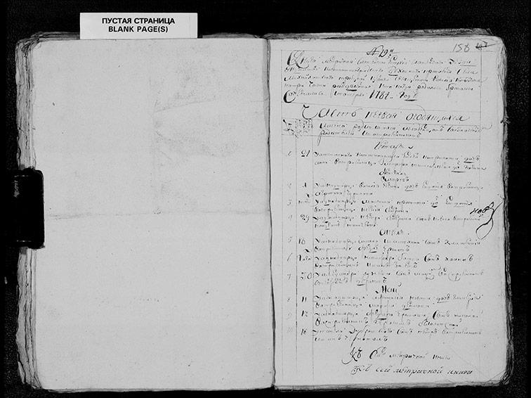 Метрическая книга Троицкой церкви села Михайловка за 1784 год