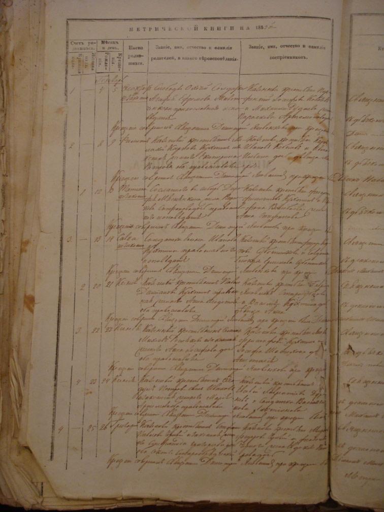 Метрическая книга Троицкой церкви села Охочее за 1859 год