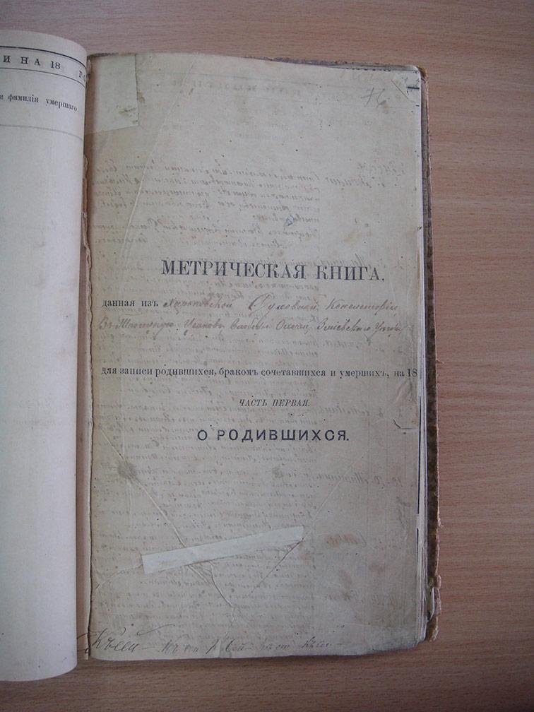 Метрическая книга Троицкой церкви села Охочее за 1889 год