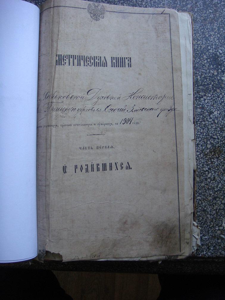 Метрическая книга Троицкой церкви села Охочее за 1904 год