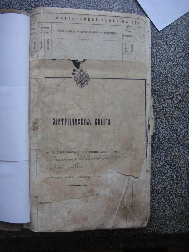 Метрическая книга Троицкой церкви села Охочее за 1911 год