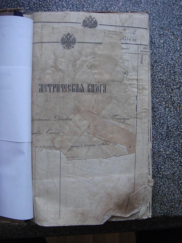 Метрическая книга Троицкой церкви села Охочее за 1913 год