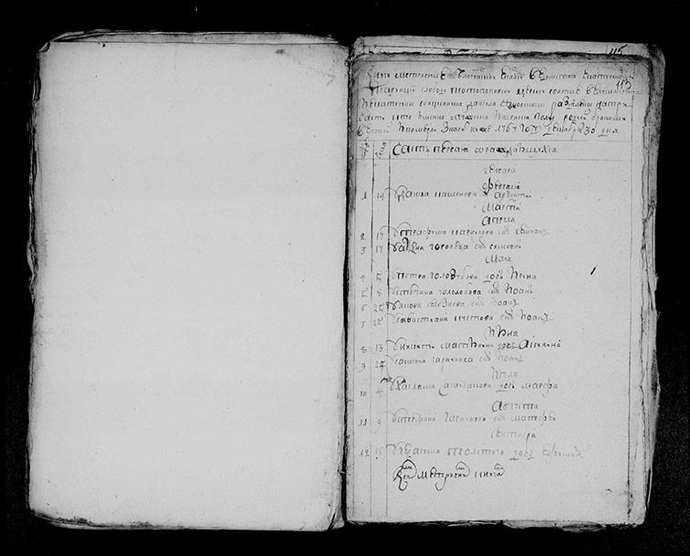 Метрическая книга Екатерининской церкви села Протопоповки за 1767 год