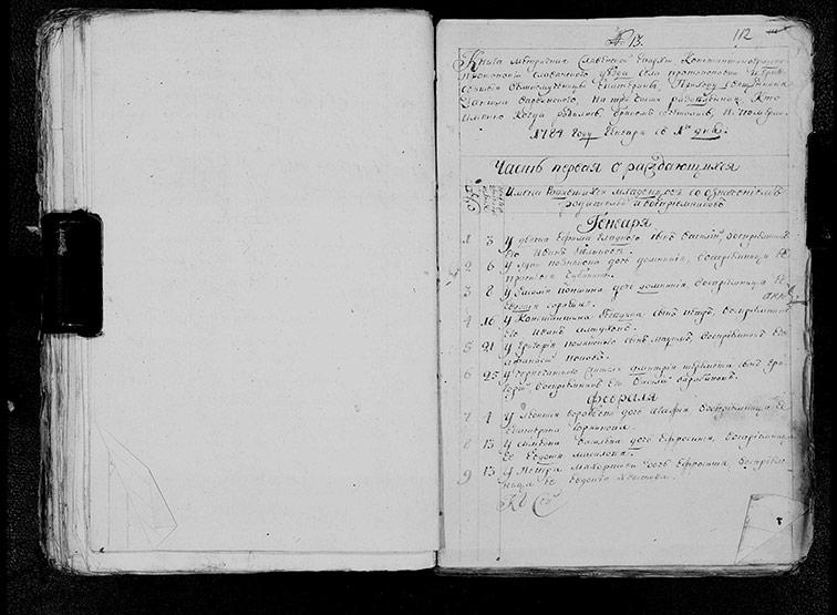 Метрическая книга Екатерининской церкви села Протопоповки за 1784 год