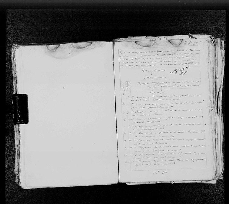 Метрическая книга Архангело-Михайловской церкви села Верхний Бишкин за 1793 год