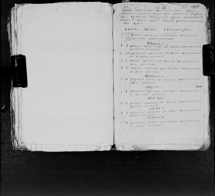 Метрическая книга Николаевской церкви села Верёвкино за 1787 год