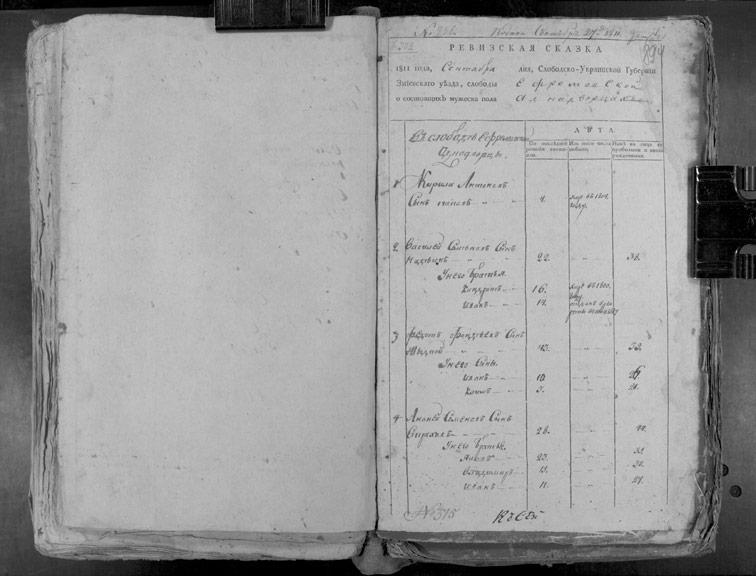 Ревизская сказка Ефремовки 1811 год (6-я ревизия)