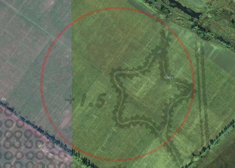 Борисоглебская крепость Украинской линии на снимках Яндекса