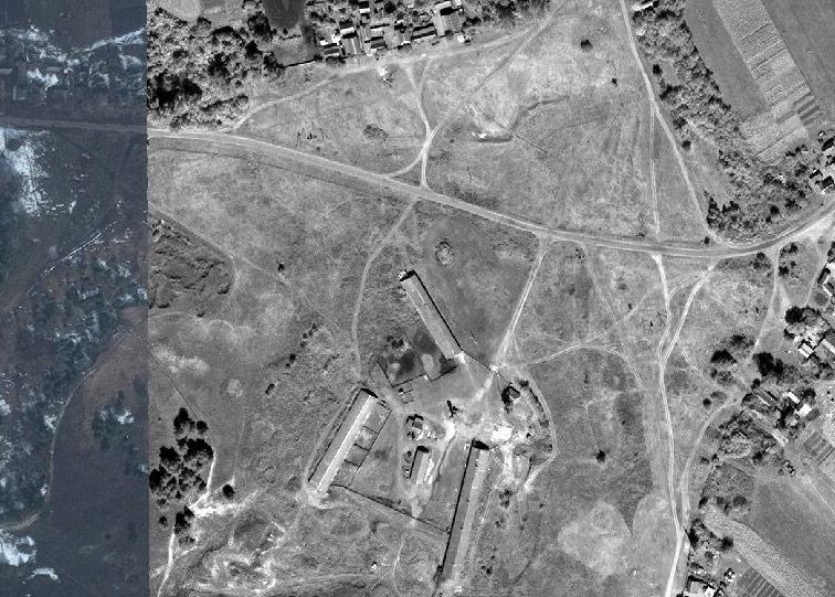 Фёдоровская крепость Украинской линии на снимках ArcGIS