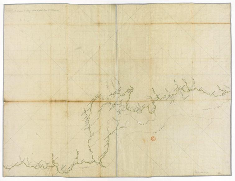 Карта границ России, Польши и Турции, 1724-1729 год