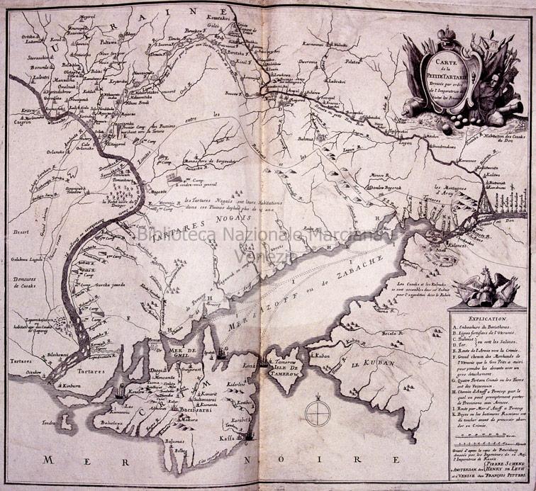 Карта Малой Татарии, 1730 год.
