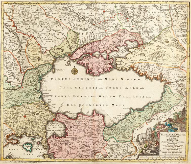 Новая и точная карта Татарии Европейской, Зойтер, 1740/1760 год.