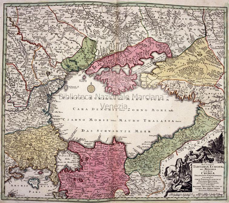 Новая и точная карта Татарии Европейской, Зойтер, 1730 год.