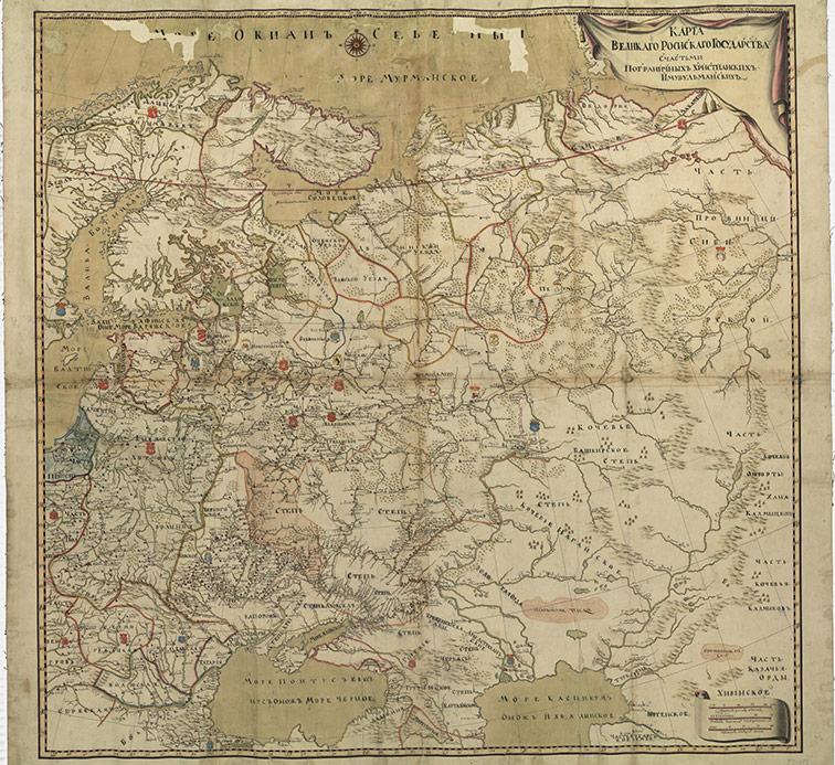 Карта Великого Российского государства, 1735 год