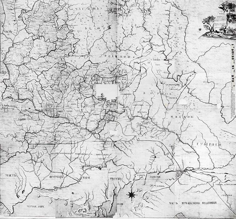 Карта Малороссийских и Слободских полков, 1764 год