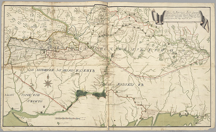 Карта Новороссийской губернии, 1767 год
