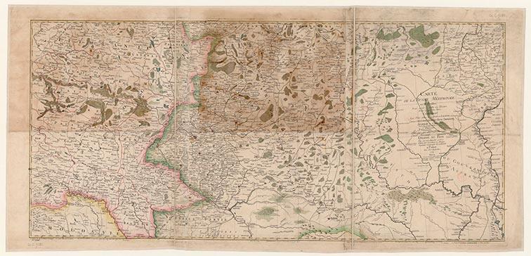Карта Южной России из 3-х листов. Ле Руж, 1769 год.