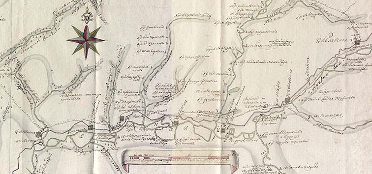 Часть карты Екатерининской провинции, 1770 год