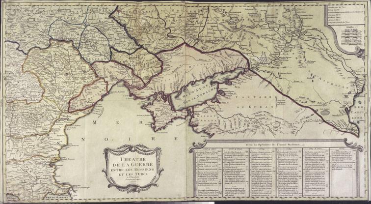 Театр военных действий между русскими и турками, 1770 год.