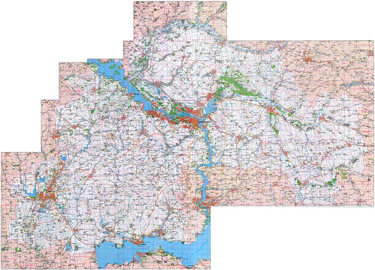 Современная карта Днепропетровской области