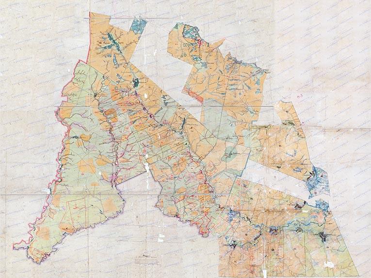 Украинская линия на Плане генерального межевания 1780-90 года