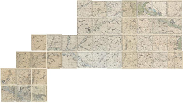 Украинская линия на топографических картах (Генштаб 1:50000)