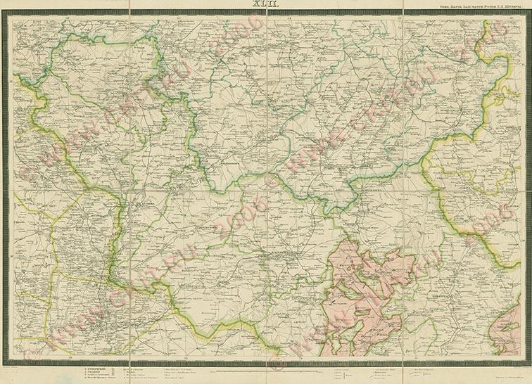 Украинская линия на картах Шуберта