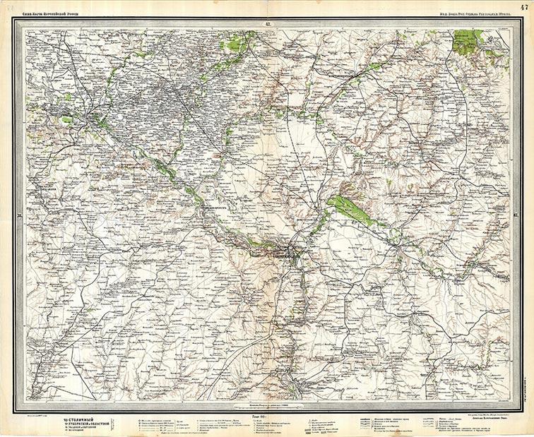 Украинская линия на картах Стрельбицкого